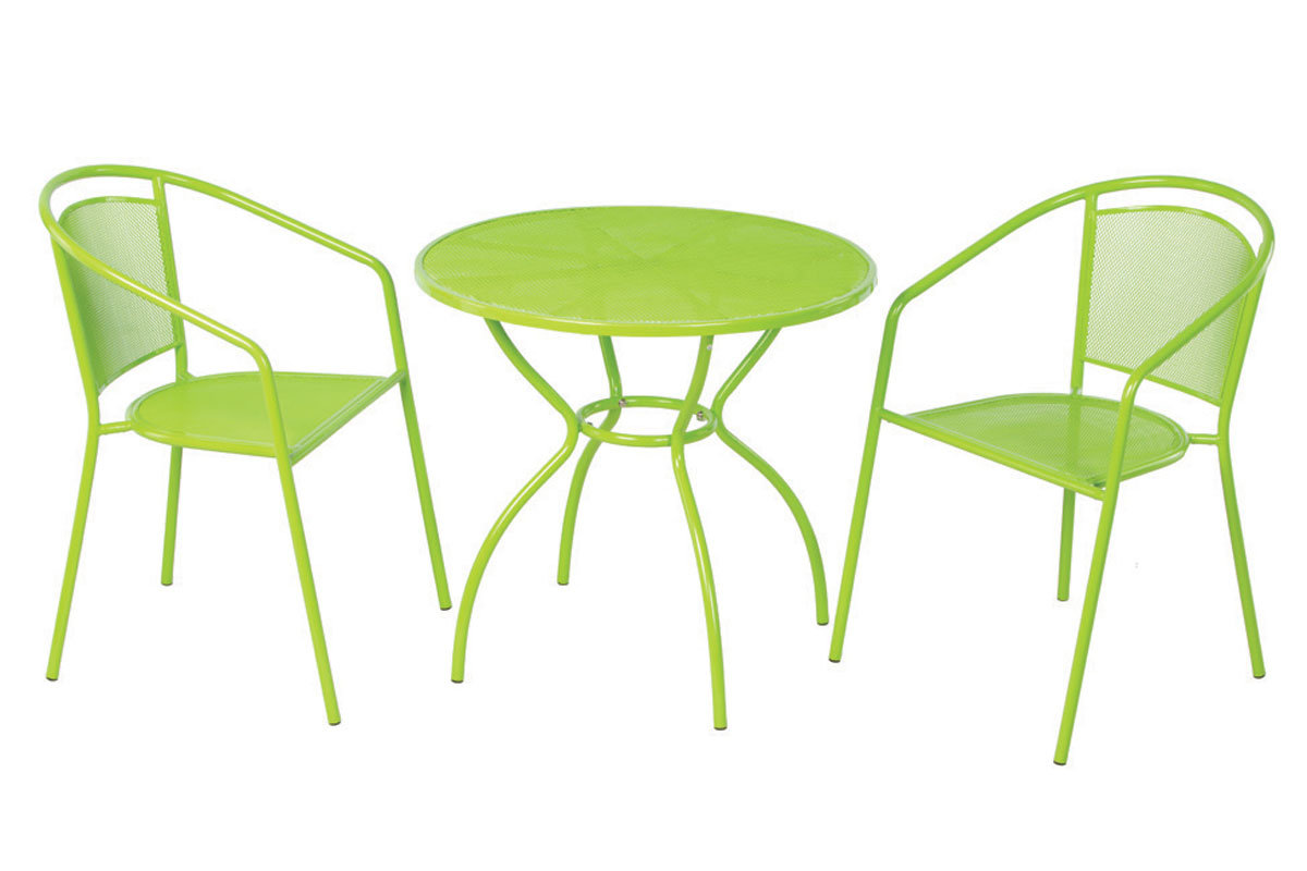 Martini 3 Pc. Bistro Set in Keylime Green Finish