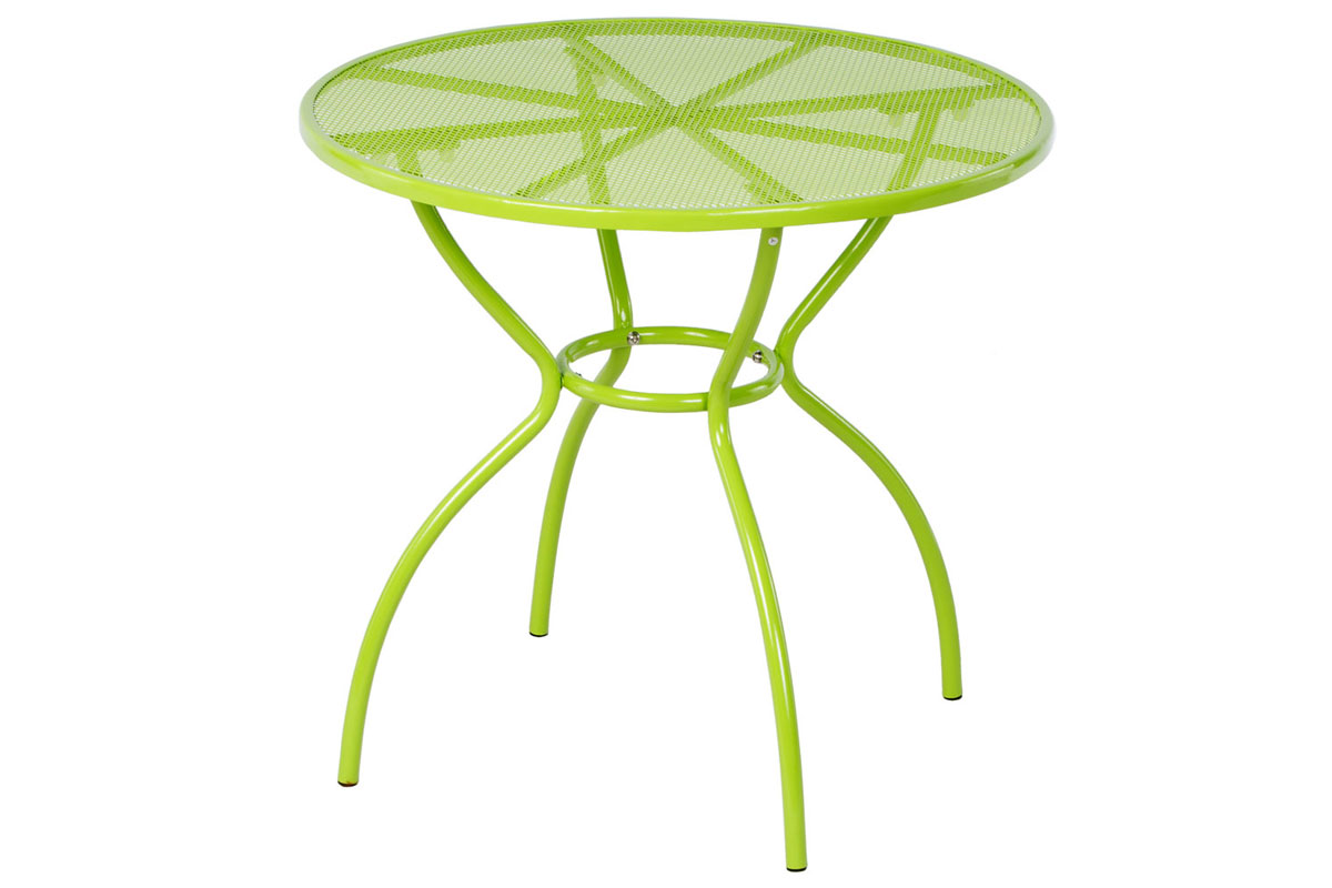 "Martini 31.5"" Rd. Bistro Dining Table in Keylime Green Finish"