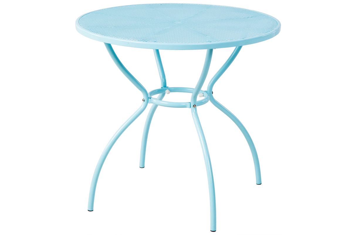 "Martini 31.5"" Rd. Bistro Dining Table in Sky Blue Finish"