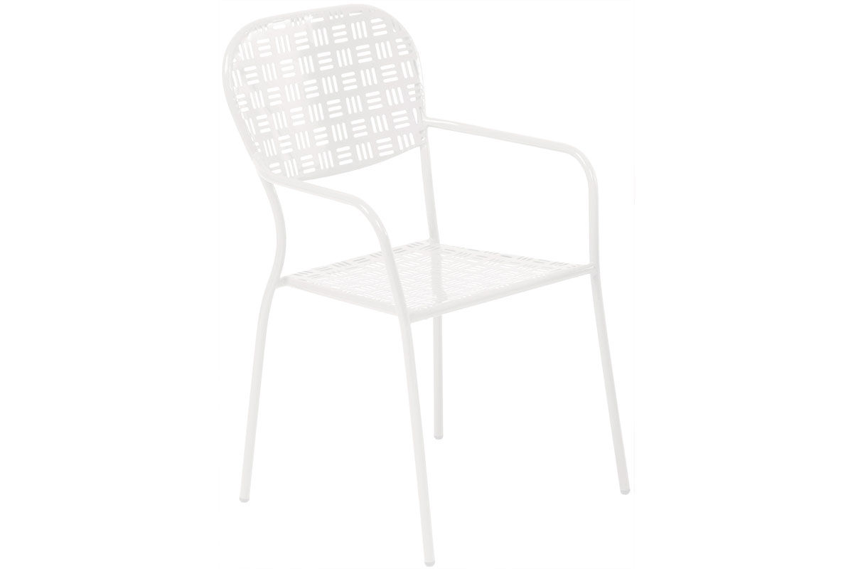 Martini Stackable Dining Bistro Chair in Bianca Finish
