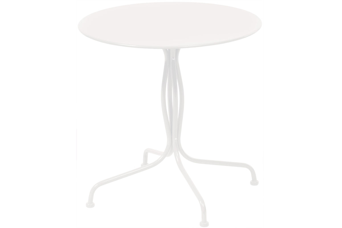 """Martini 27.5"""" Rd. Bistro Dining Table in Bianca Finish"""