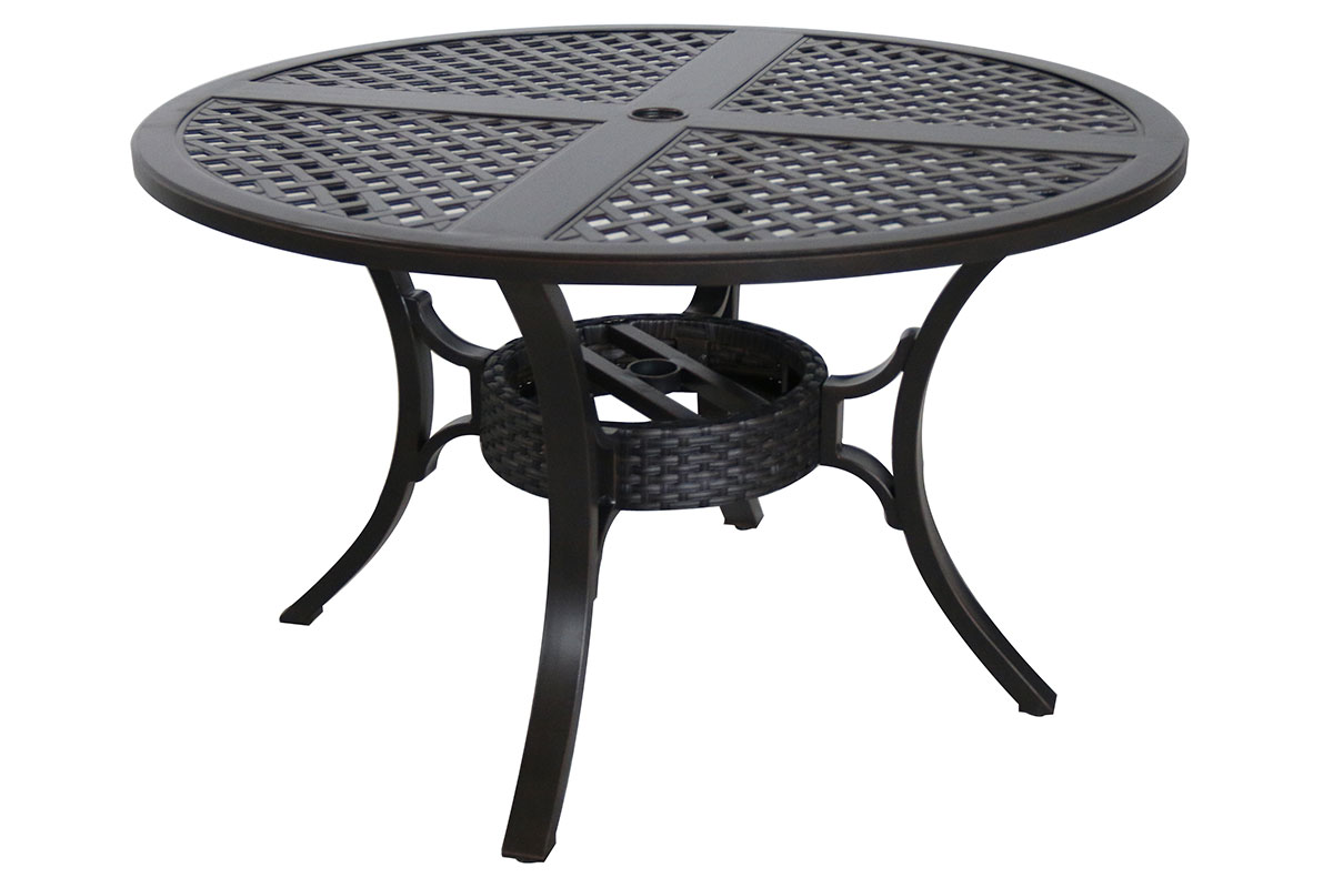 Mixed Material Cast 48 Round Dining Table C1448RD 01 CRCN Patio Produ