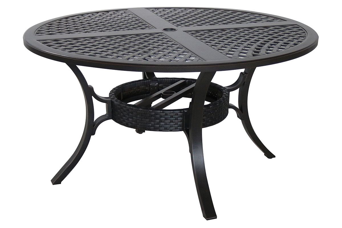 Mixed Material Cast 54 Round Dining Table C1454RD 01 CRCN Patio Produ