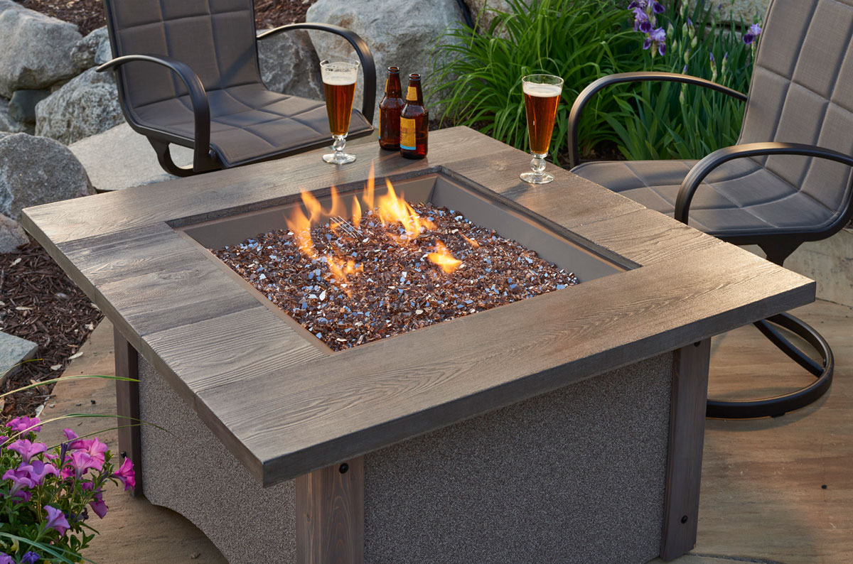 Pine Ridge Square Fire Pit Table Patio Productions