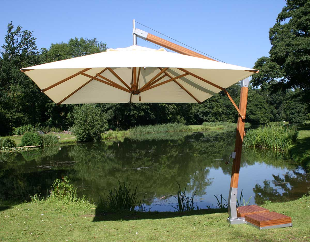 10' Square Sidewind Umbrella