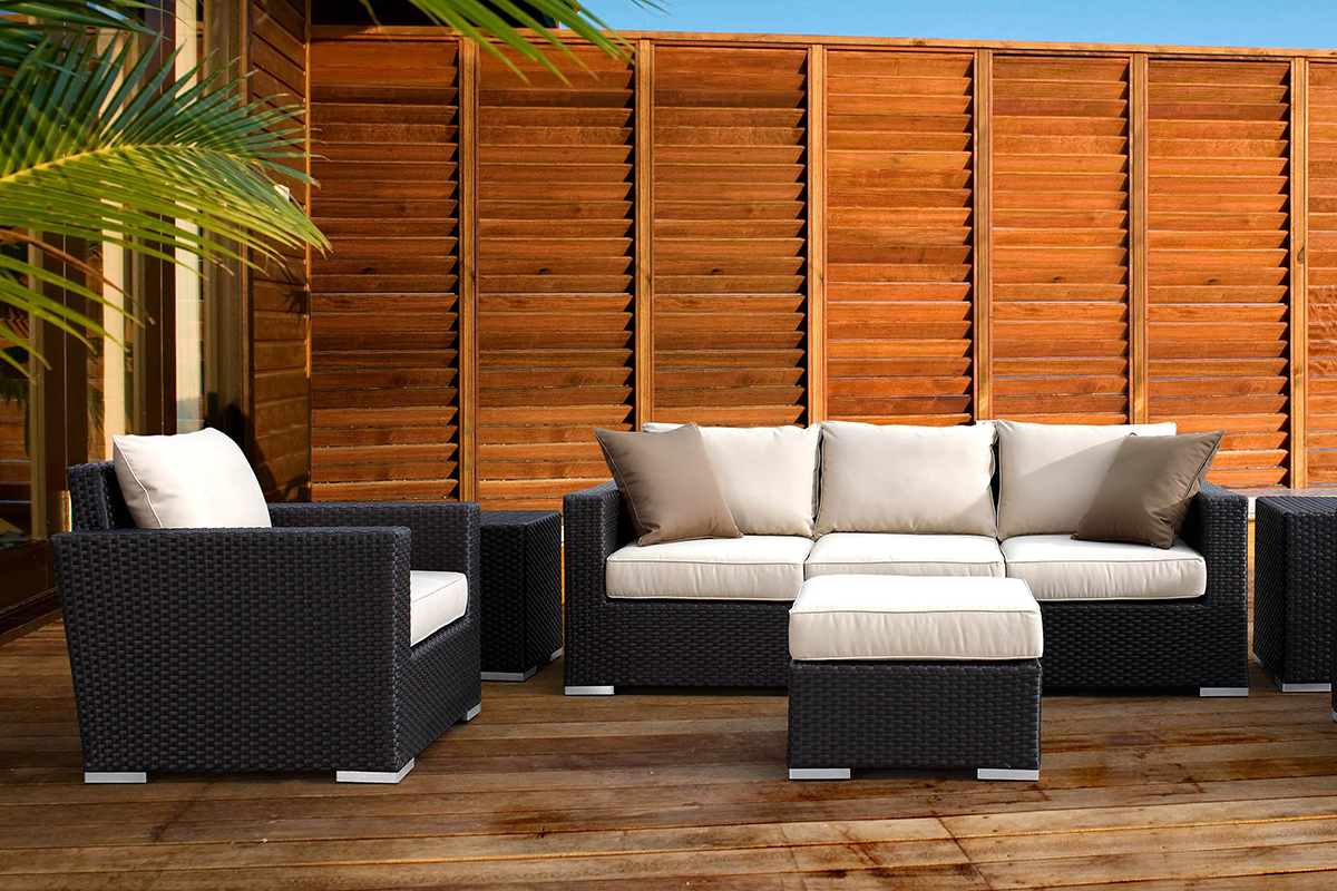 Solana Sofa - Shown as a complete outdoor seating set