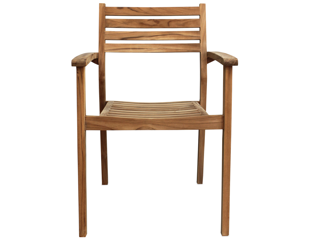 Sylvan Teak Dining Arm Chair (HL-SYLV-TK-DAC) by Harmonia Living