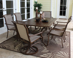7 Pc. Chub Cay Dining Set - Slatted Top (7PC-SET-920-D3SLATTED)