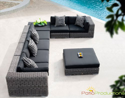 8 Pc. Emerald Sectional Set