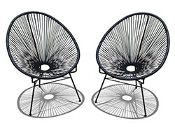 2 Pc. Acapulco Lounge Chair Set HL-ACA-2LC