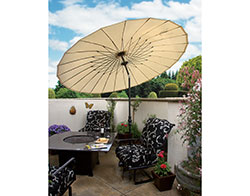 10' Round Shanghai Collar Tilt Umbrella USA459