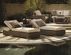 3 Pc. Coronado Wicker Chaise Lounge Set