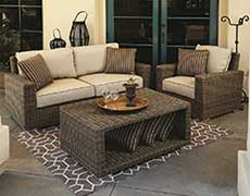 3 Pc. Coronado Wicker Love Seat Sofa Set