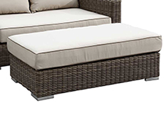 Coronado Wicker Long Ottoman 2101-DBLOTT