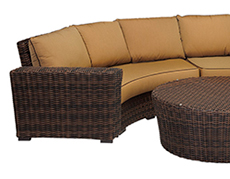 Montecito Curved Loveseat 2501-CRV
