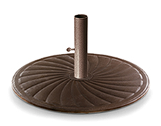 "24"" Market Round Cast Iron Umbrella Base 2800"