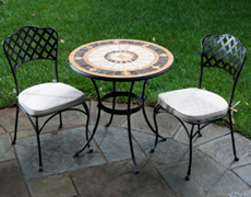 "Compass 30"" Rd. Marble Mosaic Bistro Set 21-1328"