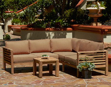 4 Piece Reclaimed Teak Sectional Set - FP-ANA-4SEC-TK