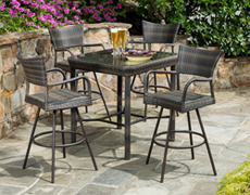Tutto All Weather Wicker Bar Height Dining Set 43-1309