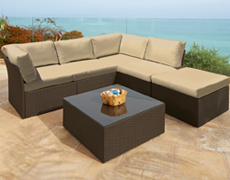 6 Piece Hilton Head Sectional Set FP-HH-6SEC-EB