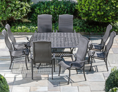 "Barbados All Weather Wicker High Back 64"" Square Dining Set 22-1303"