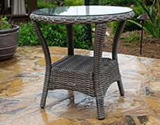 Bayview Wicker Side Table