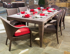 9 Pc. Indo Dining Set