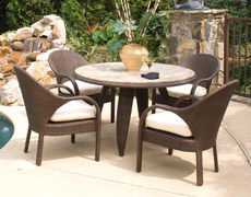 "Indo 48"" Round Dining Table"