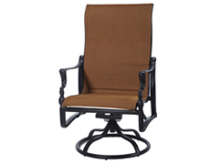 Bel Air Padded Sling High Back Swivel Rocking Lounge Chair 61990024