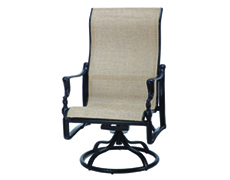 Bel Air Sling High Back Swivel Rocking Lounge Chair 50990024