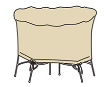 Small Oval Table And Chairs Protective Cover CP586