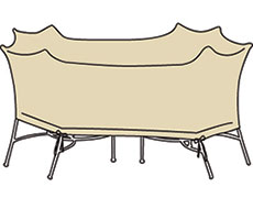 XL Oval/Rectangle Table And Chairs Protective Cover CP699