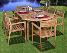 9 Pc. Coventry Extendable Dining Set