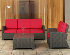 3 Pc. Barbados Sofa Set FP-BAR-3SS-EB