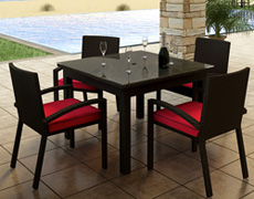 5 Pc. Barbados Dining Set FP-BAR-5SQDN-EB