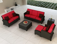 6 Pc. Barbados Sofa Set FP-BAR-6SS-EB