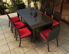 9 Pc. Barbados Dining Set FP-BAR-9DN-EB