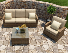 3 Pc. Cypress Sofa Set FP-CYP-3SS-HR