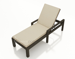 Hampton Single Adjustable Chaise Lounge with Arms FP-HAM-ACLA