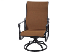 Grand Terrace Padded Sling High Back Swivel Rocking Lounge Chair 61340024