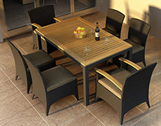 7 Pc. Arbor Dining Set HL-AR-CB-7DS