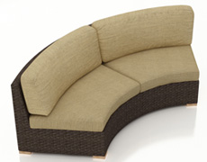 Arden Eclipse Curved Loveseat HL-ARD-E-CH-CLS