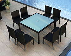 9 Pc. Urbana Square Dining Set HL-URBN-CB-9SDS