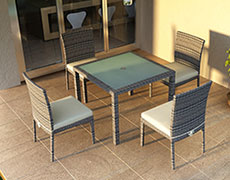 5 Pc. Urbana Dining Set - Weathered Stone HL-URBN-WS-5DS