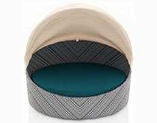 Wink Canopy Day Bed - Weathered Stone HL-WINK-WS-DB
