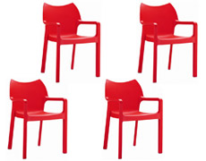 4 Pc. Diva Dining Arm Chair ISP028