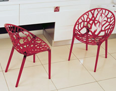 2 Pc. Crystal Dining Arm Chair ISP052