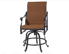 Michigan Padded Sling Swivel Rocking Balcony Stool 60140036