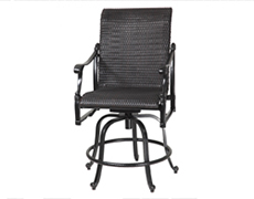 Michigan Woven Swivel Rocking Balcony Stool 70140036