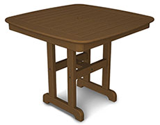 "Nautical 37"" Square Dining Table NCT37"